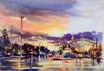 Marie Natale Watercolor Night Scenes